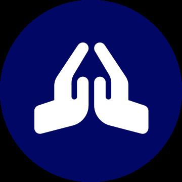 praying hands icon